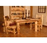 Rustic Aspen Log Summit Peak Dining Chair