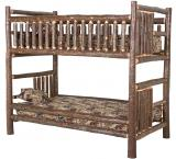 / Hickory Log Bunk Bed