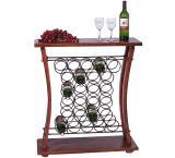 Rustic Oak Venice Wine Display - Pine Stain