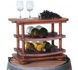 Rustic Oak Mini Wine Stave Display