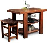 Rustic Oak Russian River Kitchen Island