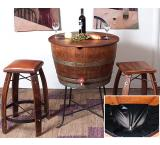 Rustic Oak Bistro Barrel Cooler