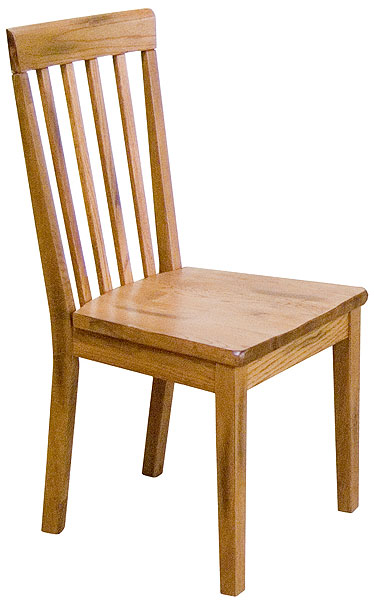 Rustic furniture rustic oak slatback chair for Non traditional dining room chairs