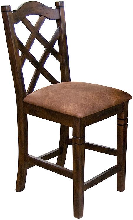 rustic furniture rustic santa fe crossback bar stool