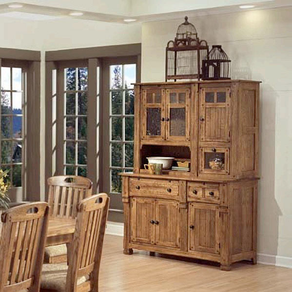Rustic furniture rustic oak amp slate buffet cabinet only