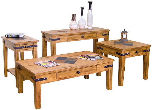 Rustic Oak Sofa Table Rustic Oak Slate Inlaid Sofa