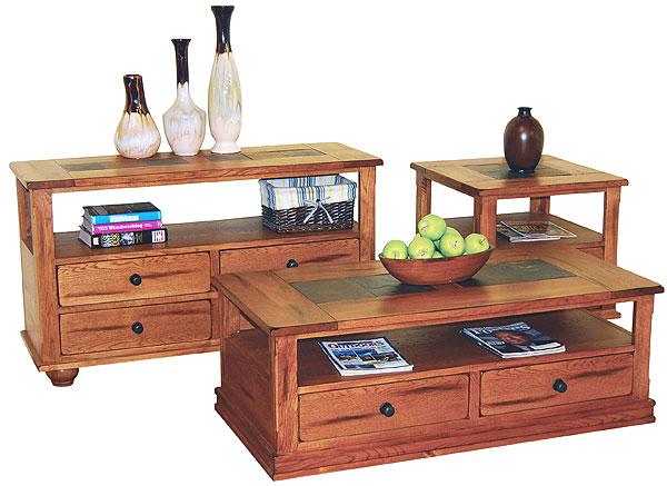 Rustic Oak Sofa Table Rustic Oak Sofa Table With