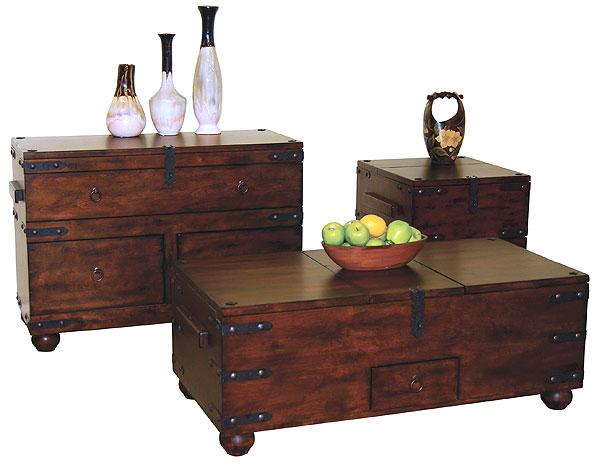 rustic furniture rustic santa fe trunk sofa table