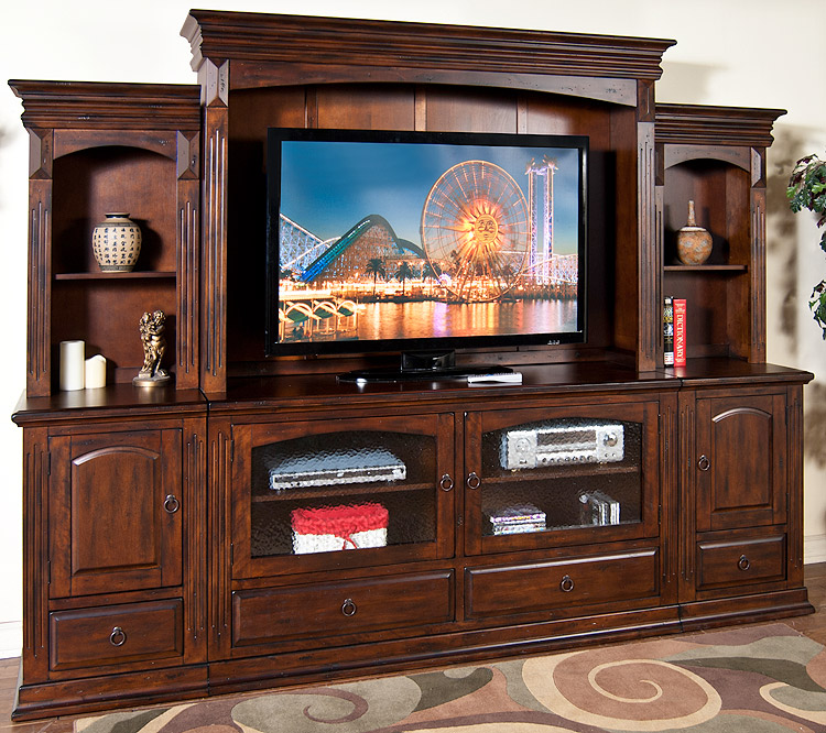 rustic furniture rustic santa fe 63 quot tv console only