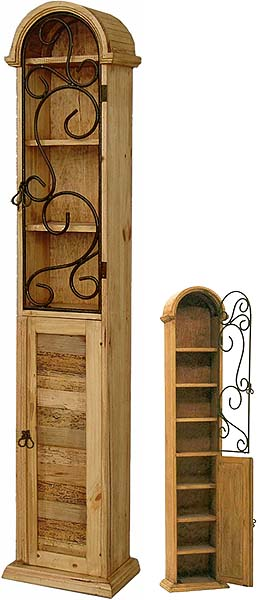 Rustic Furniture - Mexican Rustic Pine Bossier CD / DVD Cabinet