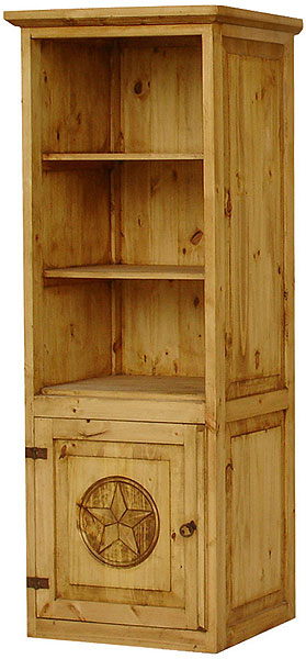 Rustic Furniture Mexican Rustic Pine Bowie Star Left Tower