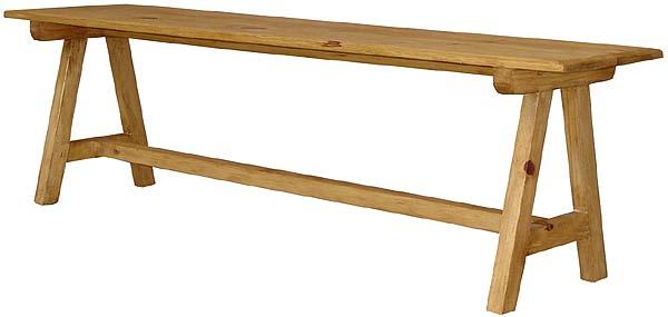 Rustic Furniture Pueblo Mexican Rustic Pine Bench