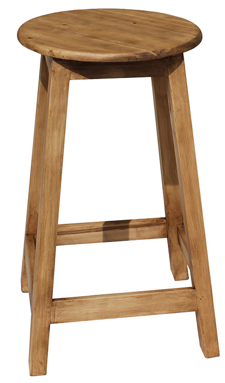 Rustic Furniture Short Cantina Mexican Rustic Pine Bar Stool