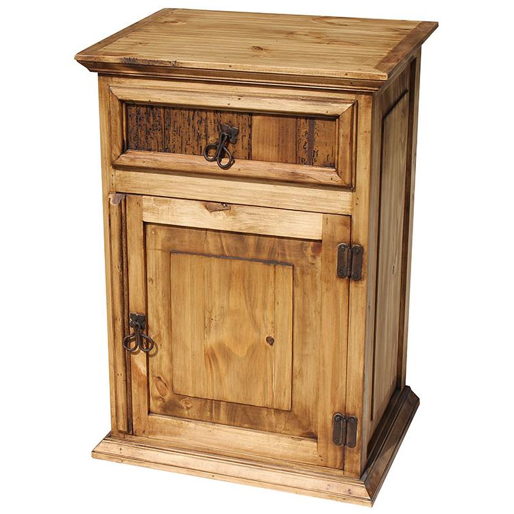 Rustic furniture tall paris mexican rustic pine How tall is a nightstand