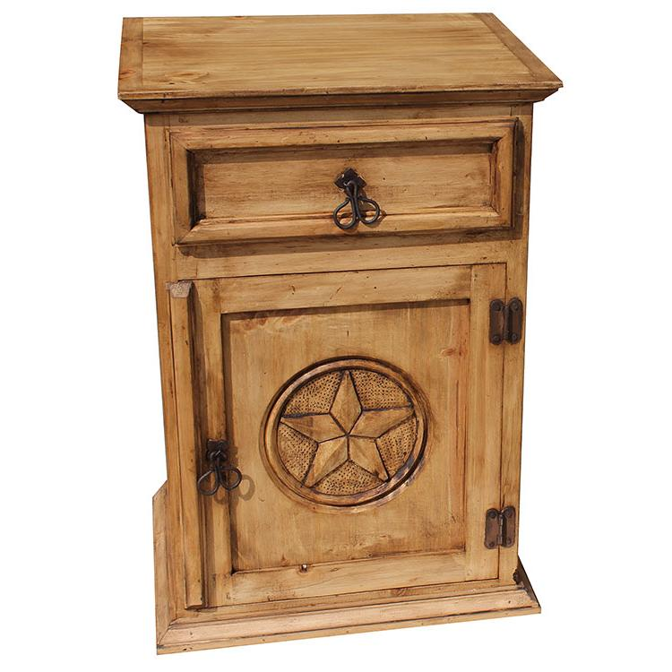 Rustic Furniture Texas Mexican Pine Nightstand