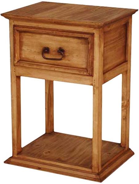 Rustic furniture santa fe mexican rustic pine nightstand for Rustic pine furniture