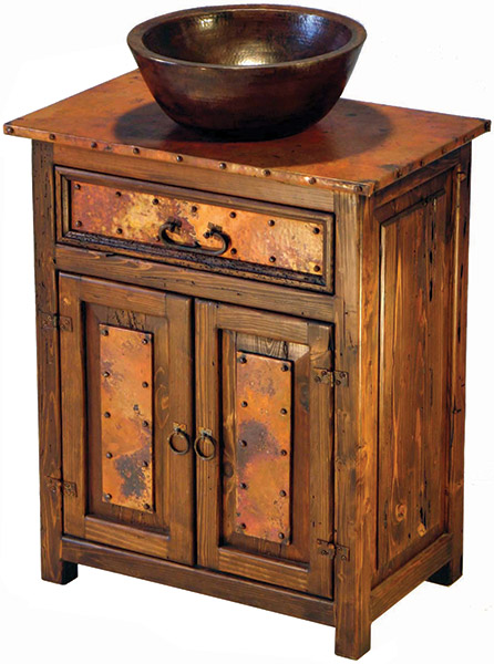 Rustic Furniture Mexican Copper Inlaid Deer Valley Sink