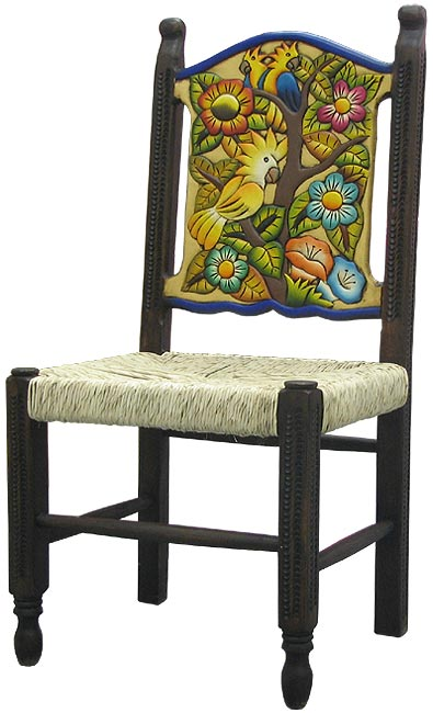 Rustic furniture mexican rustic large woven birds for Non traditional dining room chairs