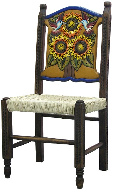 Rustic Furniture Mexican Rustic Large Woven Sunflower