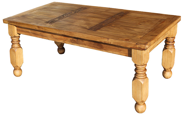 Rustic Furniture Lyon Mexican Rustic Pine Coffee Table