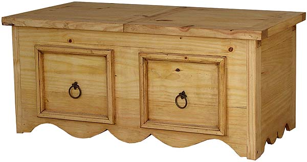 Rustic Furniture Milan Sliding Top Mexican Rustic Pine Coffee Table