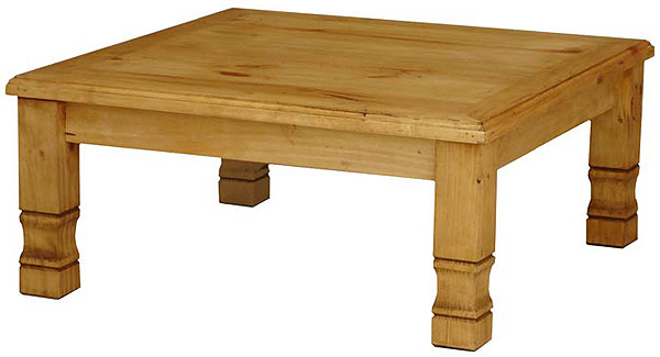 Rustic Furniture Square Julio Mexican Rustic Pine Coffee Table Without Wormwood