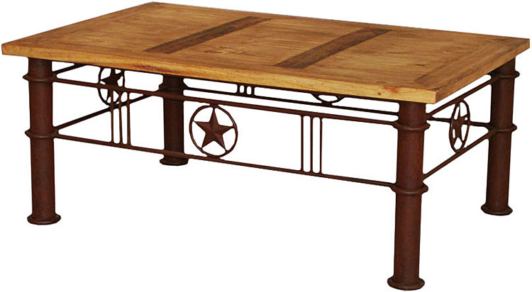 Enjoyable Rustic Furniture Iron Star Mexican Rustic Pine Coffee Table Bralicious Painted Fabric Chair Ideas Braliciousco