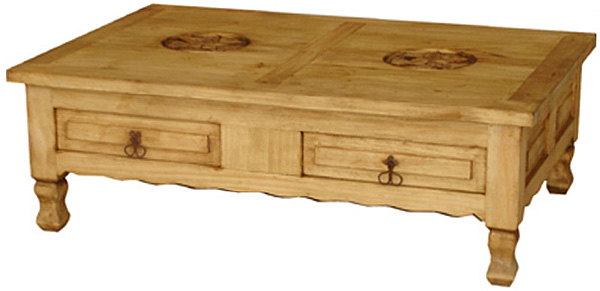 Superbe Keko Star Mexican Rustic Pine Coffee Table