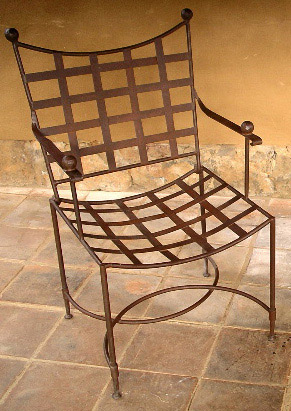 Rustic furniture mexican classic arm chair for Non traditional dining room chairs