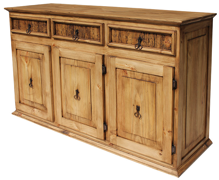 Rustic Furniture Large Classic Mexican Rustic Pine Sideboard