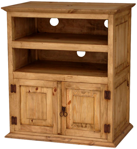 Rustic furniture tall mexican rustic pine tv stand Rustic tv stands