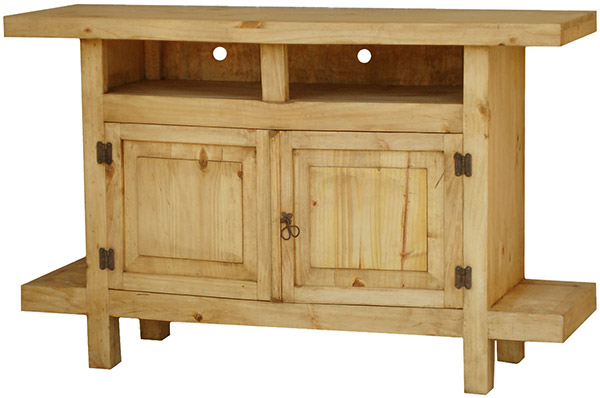 Rustic Furniture Juanillo Mexican Rustic Pine Tv Stand