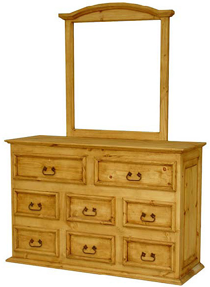 Rustic Furniture Sm 8 Drawer Mexican Rustic Pine