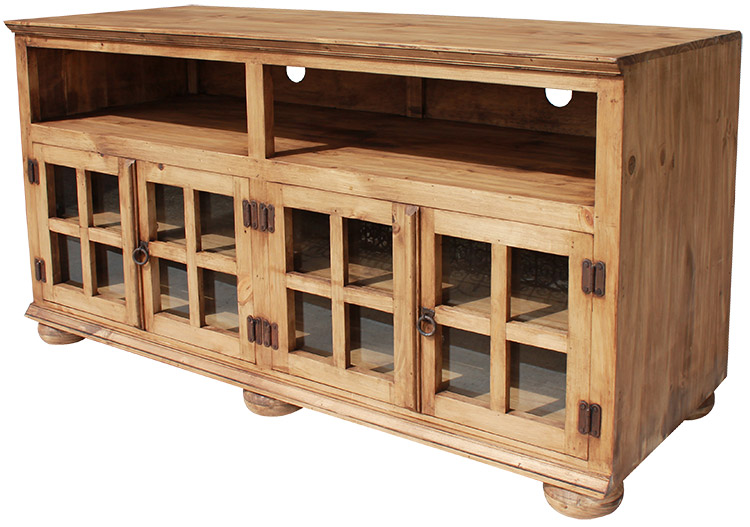 jaime mexican rustic pine tv stand
