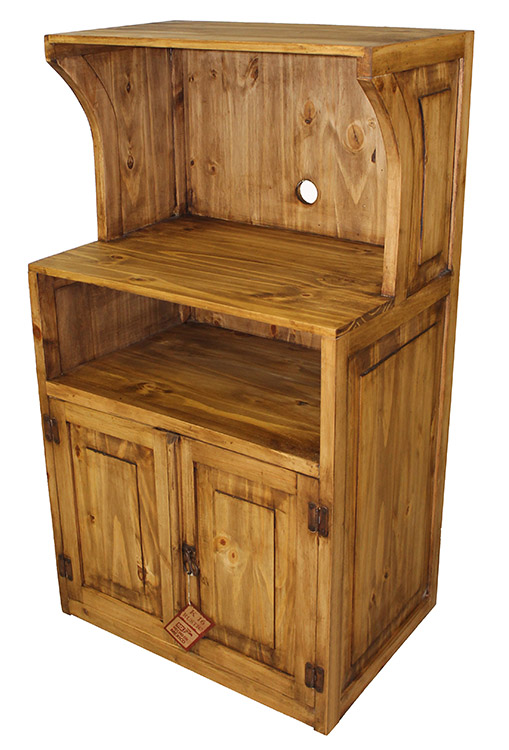 Rustic Furniture Mexican Pine Microwave Stand