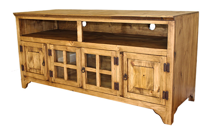 Rustic Furniture Gregorio 60 Mexican Rustic Pine Tv Stand