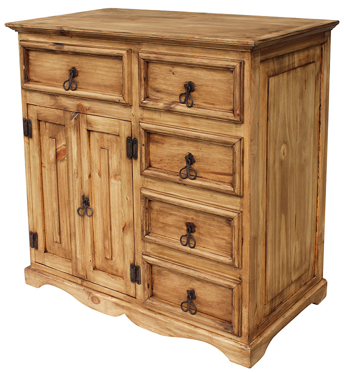 Rustic Furniture Dolores Mexican Rustic Pine Dresser