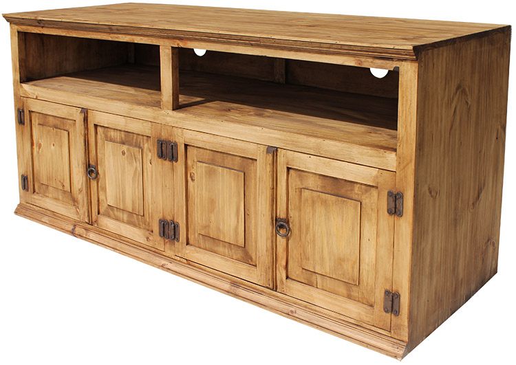 Rustic Furniture Santana Mexican Rustic Pine Tv Stand