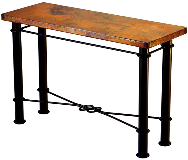 Excellent Rustic Furniture Mexican Copper Inlaid Knotted Console Table Caraccident5 Cool Chair Designs And Ideas Caraccident5Info