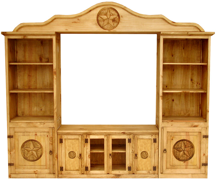 Rustic Furniture  Houston Mexican Rustic Pine Entertainment Center