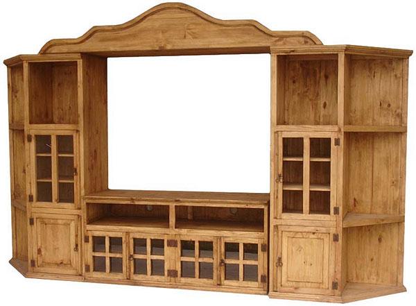 Rustic Furniture Arlington Mexican Pine Entertainment Center