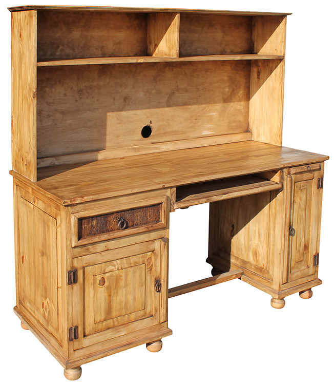 rustic furniture computer mexican rustic pine desk with