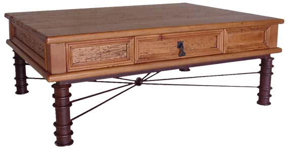 Rustic furniture southwestern rustic fierro coffee table for Southwestern coffee table