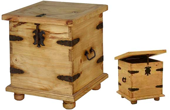 Ordinaire Mexican Rustic Pine End Table Trunk