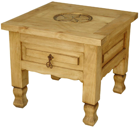 Rustic Furniture Keko Star Mexican Rustic Pine End Table