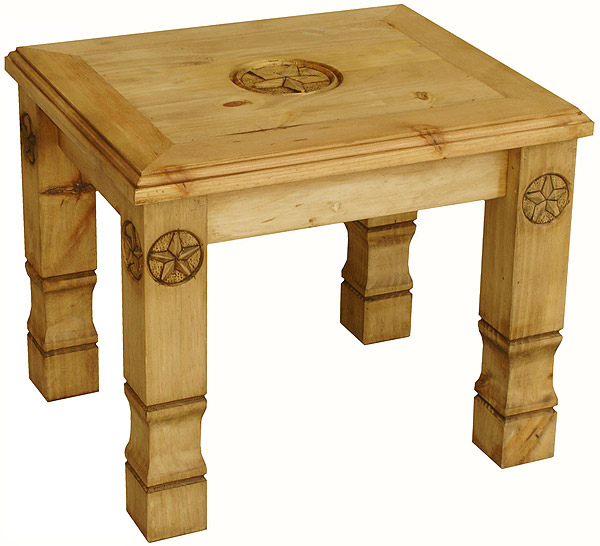 Julio 9 Star Mexican Rustic Pine End Table