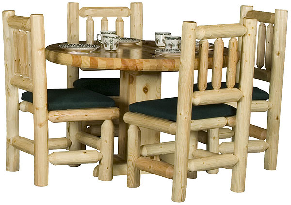 Rustic furniture rustic pine log round log dining room table