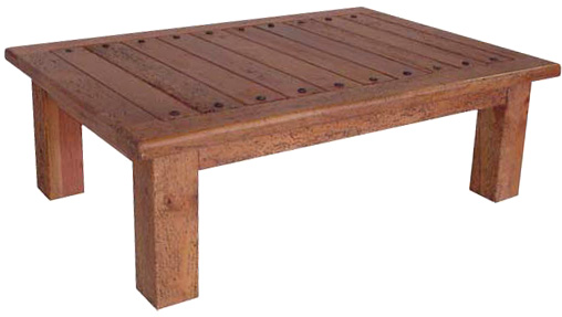 Rustic Furniture Southwestern Rustic Coffee Table With Nails