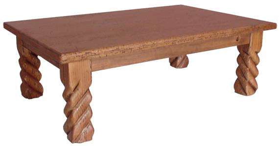 Rustic furniture southwestern rustic california coffee table for Southwestern coffee table