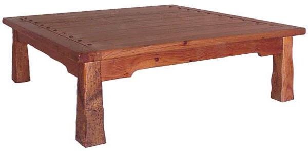 Rustic Furniture Southwestern Rustic Square Hacienda Coffee Table